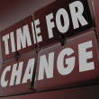 Stockfoto: Time for Change