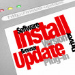 Stock Photo: Install Updates