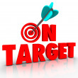 On Target Words — Foto Stock