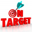 On Target Words — Stock Photo