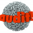 Stock Photo: Audit Word Ball