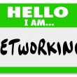 Stock Photo: Networking Sticker