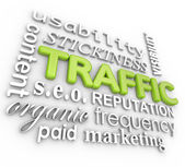 Web Traffic 3D Word — Stock Photo