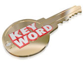 Keyword Gold Key — Stock Photo