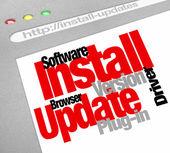 Install Updates — Stock Photo