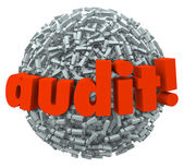 Audit Word Ball — Stock Photo