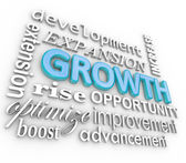 Growth 3d Word B — Stock Photo