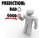 Good Vs Bad  Prediction — 图库照片
