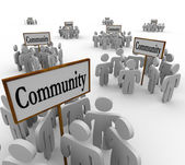 Community People Groups — Stock Photo