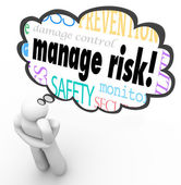 Manage Risk Thinker — Stock Photo