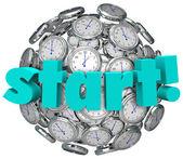 Start Word Clocks — Stock Photo