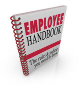 Employee Handbook — Stock Photo