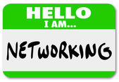 Networking Sticker — Stock Photo