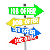 Job Offers Arrow Signs — Stock Photo