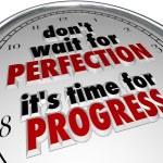 Time Progress Clock Message — Stock Photo