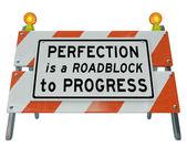 Barrier Barricade Sign — Stock Photo