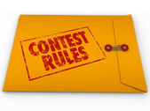 Contest Rules Classified Envelope Terms Conditions Entry Form — Stock Photo