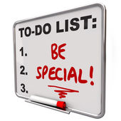 Be Special To Do List Dry Erase Board Unique Different — Stock Photo