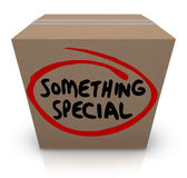 Something Special Cardboard Box Gift Delivery — Stock Photo