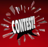 Contest 3D Word Grand Prize Drawing Announcement News — Stock Photo