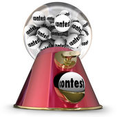 Contest Gumball Machine Random Winner Drawing — Stock Photo