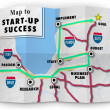 Map Start Up Success Road Directions — Stock Photo #43551743