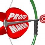 Profit Margin Bow Arrow — Stock Photo #43551869