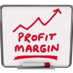 Profit Margin Words Dry Erase Board — Stock Photo #43551927