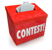 Contest Entry Form Box Enter Win Drawing Raffle Prize — Stock Photo