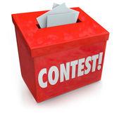 Wedstrijd invoervak formulier invoeren win tekening loterij prijs — Stockfoto