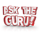 Ask the Guru Question 3D Words Help Guidance Assistance — Stock Photo