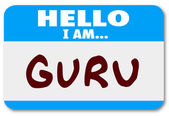 Guru Word Name Tag — Stock Photo