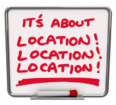 Its All About Location Destination Best Area Spot Place — Stock Photo