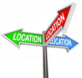 Location Signs — Stock Photo
