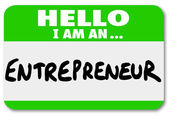 Entrepreneur Name Tag — Stock Photo
