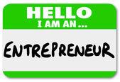 Entrepreneur Name Tag — Stock Photo