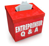 Questions Answers Box Information — Stock Photo
