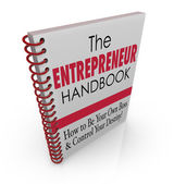 Entrepreneur Handbook — Stock Photo