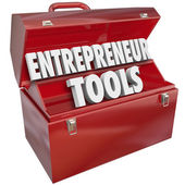 Tools Red Toolbox Skills Ideas — Stock Photo
