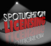 Spotlight on Licensing Words — Stock Photo