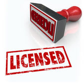 Licensed Stamp Official Authorized Certified Approval — Stock Photo