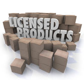 Licensed Products — Stock Photo