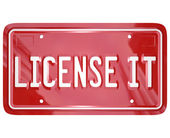 License It Vanity Plate — Stock Photo