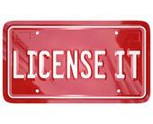 License It Vanity Plate — Stock Photo