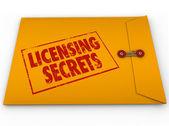 Licensing Secrets Yellow Envelope — Stock Photo