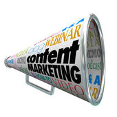 Content Marketing Bullhorn Megaphone — Stock Photo