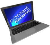 Marketing Words laptop Computer — Stock Photo