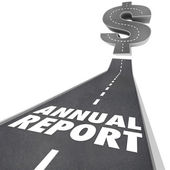 Annual Report Road — Stock Photo