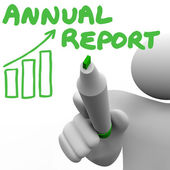 Annual Report Writing Words — Stock Photo