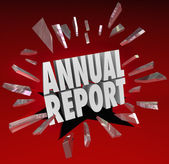 Annual Report Words — Stock Photo